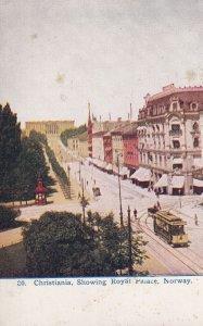 NORWAY, PU-1913; Christiania, Showing Royal Palace