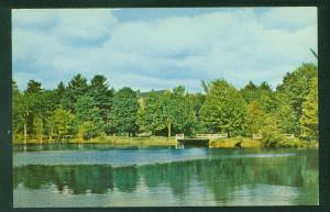 Library Pond St Paul's School Concord New Hampshire NH Vintage Postcard