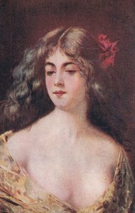 Artist ASTI ; Female Head Portrait , 00-10s #5 ; Canadian Souvenir Post Card B