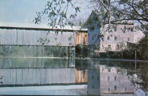 Barrett Mill and Covered Bridge - Rocky Fork Creek, Rainsboro, Ohio