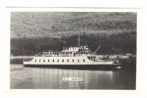 RP : Ferry Boat M.V.  ANSCOMB , B.C. , Canada , 1930-40s