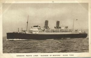 Canadian Pacific Line Steamer Duchess of Bedford (1920s)