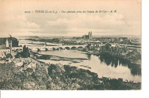 Postal 026999 : Tours, Vue gen?rale prise du Coteau de St-Cyr