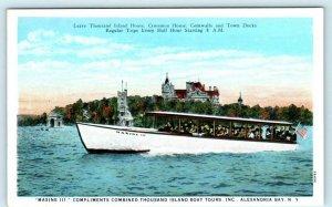 MAXINE III ~ Thousand Island Boat Tours, ALEXANDRIA BAY New York c1920s Postcard