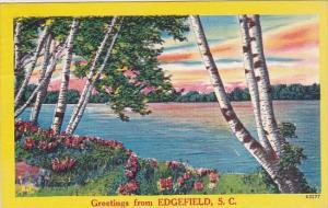 South Carolina Edgefield Greetings From Edgefield 1956