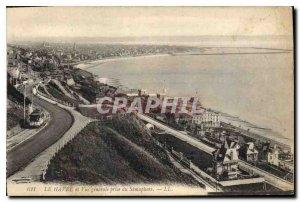 Old Postcard Le Havre Vue Generale jack of Semaphore