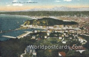 Vue prise du Mont Boron Nice, France, Carte, Unused