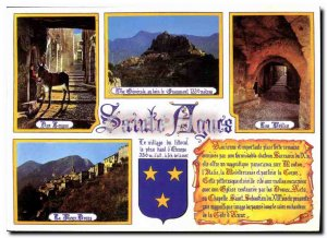 Modern Postcard Sainte Agnes Alpes Maritimes village of Menton