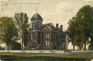 Pierce Nebraska~Pierce County Court House~Great Cupola 1909 Postcard