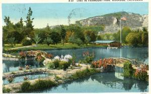 CA - Riverside, Lake in Fairmount Park