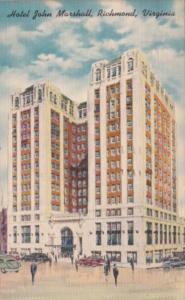 Virginia Richmond Hotel John Marshall 1950