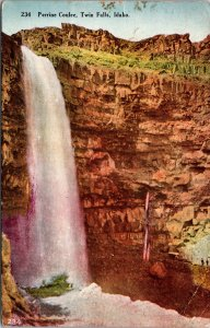 Perrine Coulee Twin Falls Idaho Postcard used 1911