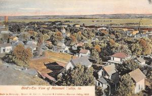 Missouri Valley Iowa Birdseye View Of City Antique Postcard K81338