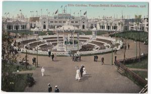 Elite Gardens, Franco British Exhibition, 1908 PPC, Unposted, By Valentines