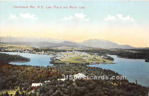 Lake Placid, Mirror Lake Adirondack Mts NY Unused