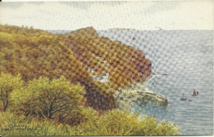Quinton Clovelly From The Hobby Drive - Artist Signed Vintage Postcard - Salmon