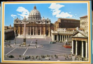 Italy Rome St Peter's Basilica and Square - unposted