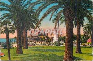 Postcard Old Nice Gardens of King Albert I and Jetee