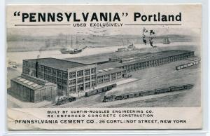 Pennsylvania Portland Cement New York Advertising 1906 postcard