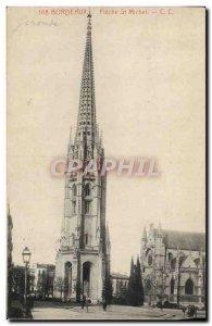 Postcard Old Bordeaux Fleche Saint Michel
