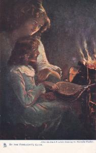 Artist Marcella Walker: By the Firelight's Glow,Mother & Daughter, 00-10s TUCK
