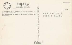 MONTREAL , Quebec, Canada, EXPO67 ; Sky Ride on La Ronde