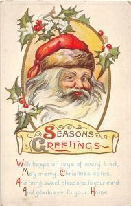 F24/ Santa Claus Merry Christmas Postcard c1922 Smile 5