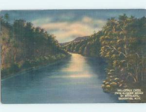 Linen RIVER SCENE Saugerties New York NY hp5399