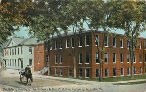 Augusta Maine~Vickery & Hill Publishing Company~Horse Buggy~House Next Door~1912