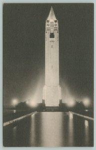 Jones Beach State Park New York~Water Tower @ Night~c1910 Postcard