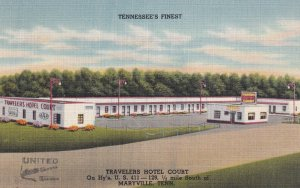 MARYVILLE, Tennessee, 1930-1940's; Travelers Hotel Court