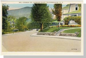 Pretty Waynesville, NC Postcard,Pigeon Street, Near Mint!