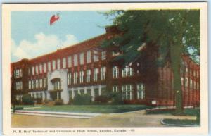 LONDON, ONTARIO  Canada   H.B. BEAL Technical & Commercial High School  Postcard