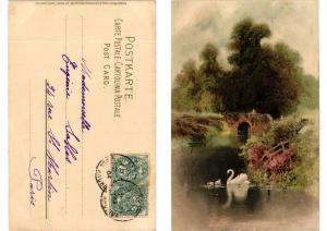 CPA Am Weiher Meissner & Buch Litho Serie 1189 (730633)