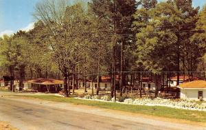 Dothan Alabama~Town & Country Motel~Swingset~Telephone Booth Roadside~1950s PC
