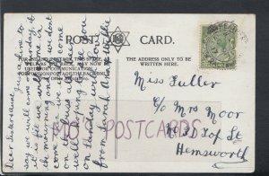 Family History Postcard - Fuller / Moor - 31 Top Street, Hemsworth RF2289