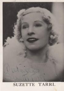 Suzette Tarri Cockney 1930s & WW2 BBC Radio Star Hand Signed Antique Photo