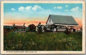 Union, Missouri Postcard McCarthy Summer Home Wildwood c1930s Curteich Unused