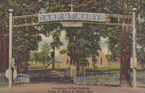 Ohio Saint Marys Evangelical United Brethren Camp Saint Marys 1960 Albertype