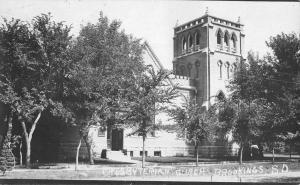 Brookings South Dakota Presbyterian Church Real Photo Antique Postcard K98629