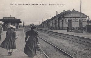 Vauvray Saint Pierre De Gare Train Station French Old Postcard
