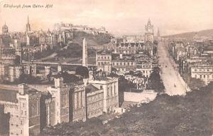 Scotland, UK Old Vintage Antique Post Card From Calton Hill Edinburgh Unused