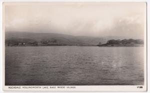 Rochdale; Hollingworth Lake & Rake Wood Village RP PPC, 1952 Manchester PMK