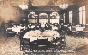 Main Dining Room, El Cortez Hotel, San Diego, CA, Early Postcard, Unused