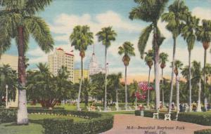 Florida Miami Beautiful Bayfront Park 1958 Curteich