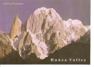 Postal 046738 : Mountain at Hunza valley Called Lady Finger. Pakistan