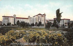 Scene at the Hotel Green on New Year's Day, Pasadena, CA, Early Postcard, Unused