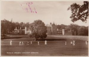 Rossie Priory Perth Scottish Cricket Ground Match Real Photo Old Postcard
