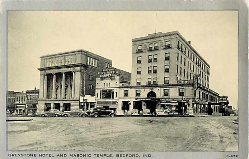 Greystone Hotel & Masonic Temple Bedford Indiana IN