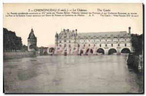 Postcard Old Chateau Chenonceau